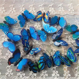 Superleuke haarclip BUTTERFLY per 5 stuks blauwtinten
