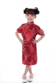 Prachtig rood Chinees jurkje