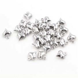 Bedel klein hartje zilver 8 mm