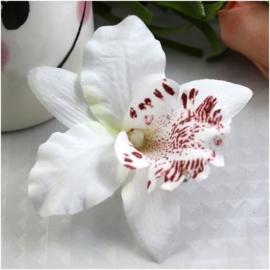 Haarclip enkele orchidee wit
