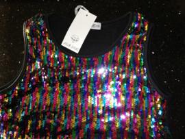 """Geweldig """"regenboog"""" glitter pailletten jurkje multicolor"""
