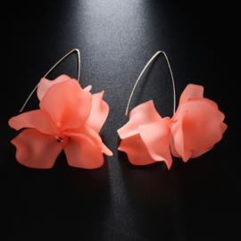 Superleuke lange bloemoorbellen roze