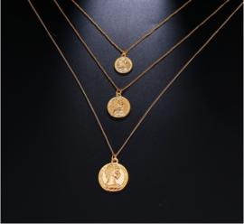 Set van 3 kettingen met munten goud