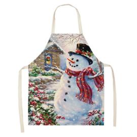 Kerstschort Sneeuwman