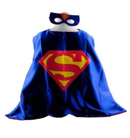 Superman cape + masker 8 - 12 jaar