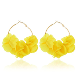 Superleuke ronde bloemoorbellen geel