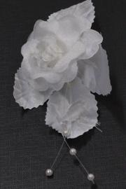 Patentspeld met witte roos 3