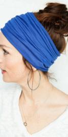 Mooie brede haarband  donkerblauw