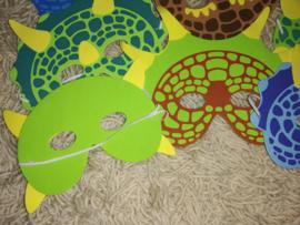 Set van 8 eenvoudige dinosaurusmaskers van foam met elastiek 3-8 jaar