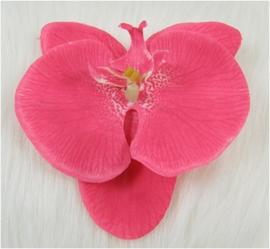 Grote orchidee 10 cm op clip fuchsiaroze