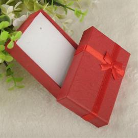 Sieraad geschenk doosje rood