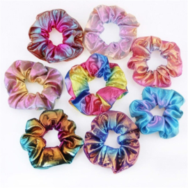 Mermaid glans scrunchie set van 8 stuks!