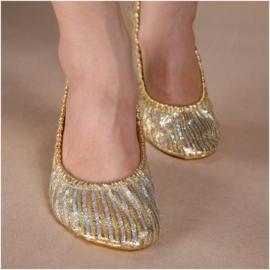Prachtige goud/zilveren ballerina`s
