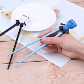 Kinder chopsticks Panda zwart/blauw