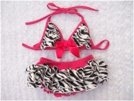 Geweldige meisjes bikini zebra