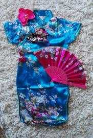 Erg leuk turquoise Chinees jurkje