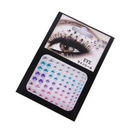 Face Crystals voor rondom het oog multicolor