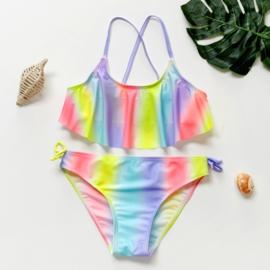 Superleuke multicolor Rainbow bikini