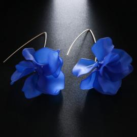 Superleuke lange bloemoorbellen kobaltblauw