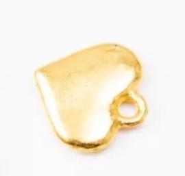 Bedel hartje goud 10 mm