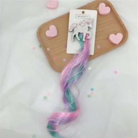 Haarclip UNICORN roze/turquoise