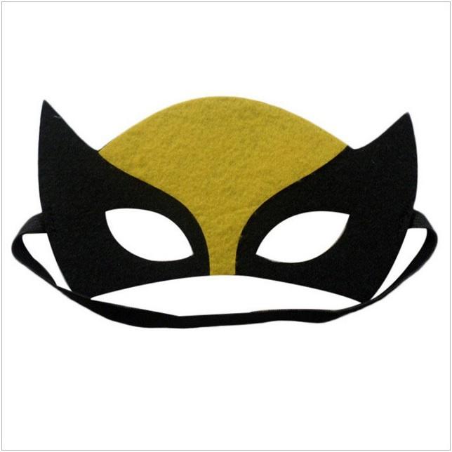 Geweldig leuk en stevig masker catwoman van vilt