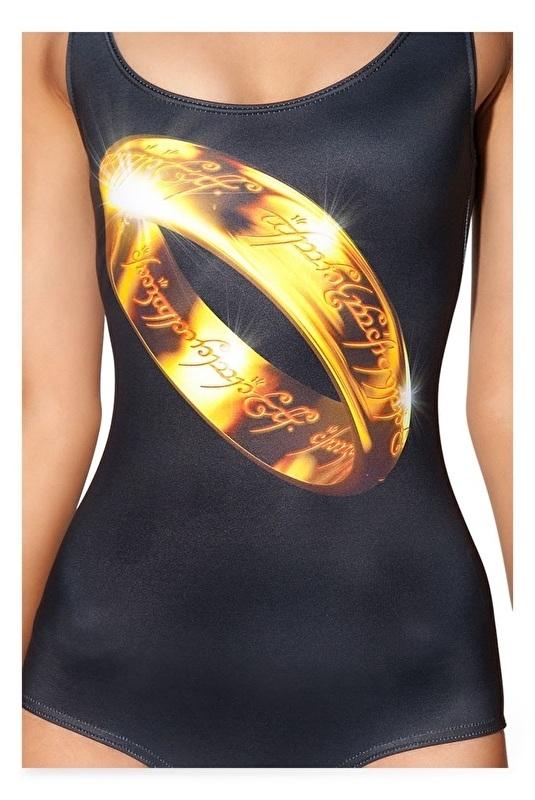 """Digitaal geprint badpak/bodysuit """"Lord of the Rings"""" maat S/M"""
