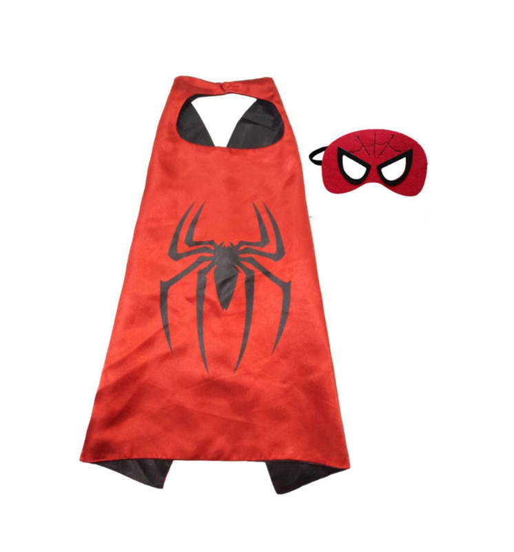 Spiderman cape + masker kind 3-8 jaar
