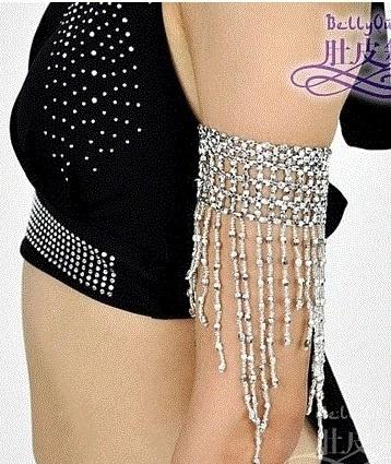 Oriëntaalse bovenarmband met zilveren franjes