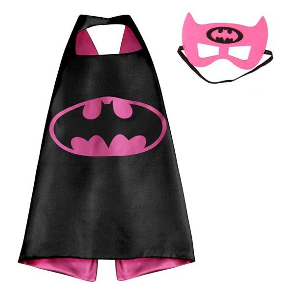 Batgirl cape + masker kind 3-8 jaar