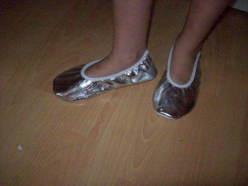 Mooie zilveren ballerina`s