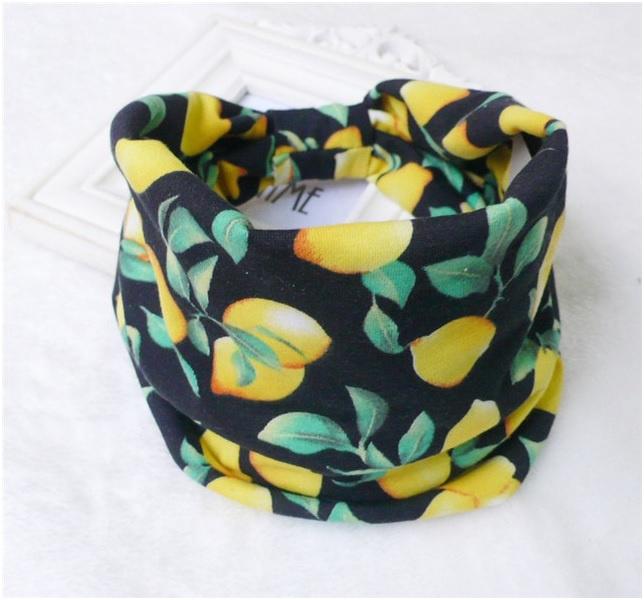 Mooie brede haarband  zwart citroen