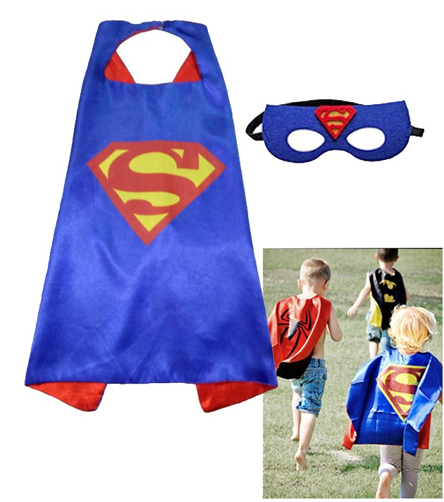Superman cape + masker kind 3-8 jaar