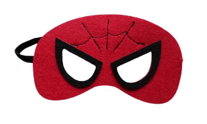 Geweldig leuk en stevig masker spiderman van vilt