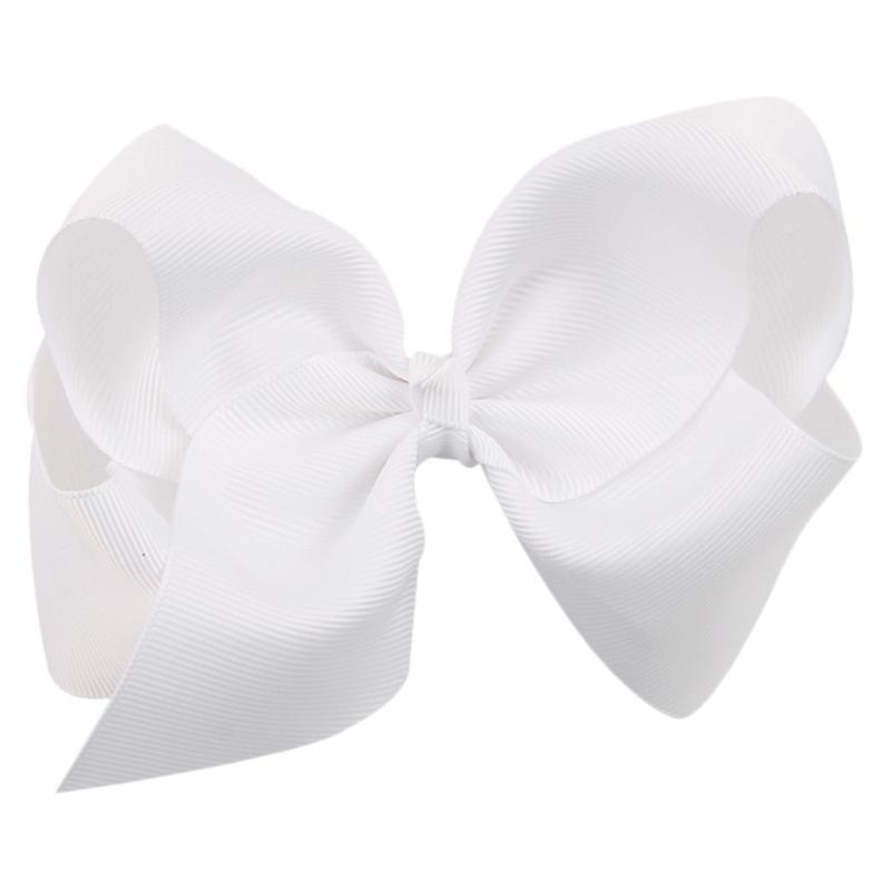 Mooie grote hairbow op clip wit