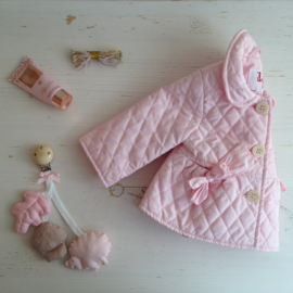 Wagen/maxi-cosi  hanger natuur pink