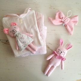 Speelboog speeltjes set roze ( ook geschikt voor aan de babygym )