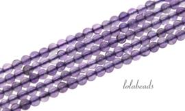 10 strengen Amethist kralen rond ca. 3mm