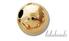 12 stuks Gold filled spacer/ kraal 9mm
