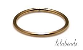 50 stuks 14k/20 Gold filled oog / ring ca. 16x1mm