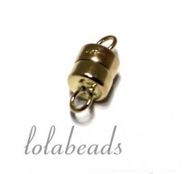 1 stuk 14 krt. gouden magneetslot ca. 10x4,5mm
