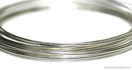 5 meter Sterling zilverdraad ca. 0,8mm half hard