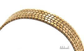 10 strengen Hematiet kralen kubus rosé gold plated ca. 3.5mm