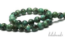 10 strengen African Turquoise kralen rond 8mm AA kwaliteit