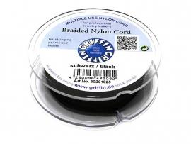 BLACK: Griffin 'braided' nylon koord (per 5 rollen)