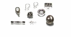 Sterling zilveren sieraadonderdelen