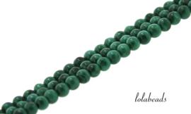 10 strengen Malachiet kralen rond ca. 2.mm
