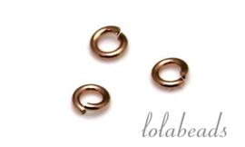 50 stuks Rosé Gold filled oogje open ca. 6x0.6mm