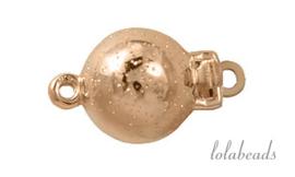 Rosé gouden bakslotje 14krt. goud ca. 8mm