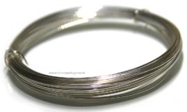 17 meter Silverfilled draad zacht ca. 0,5mm / 24 gauge